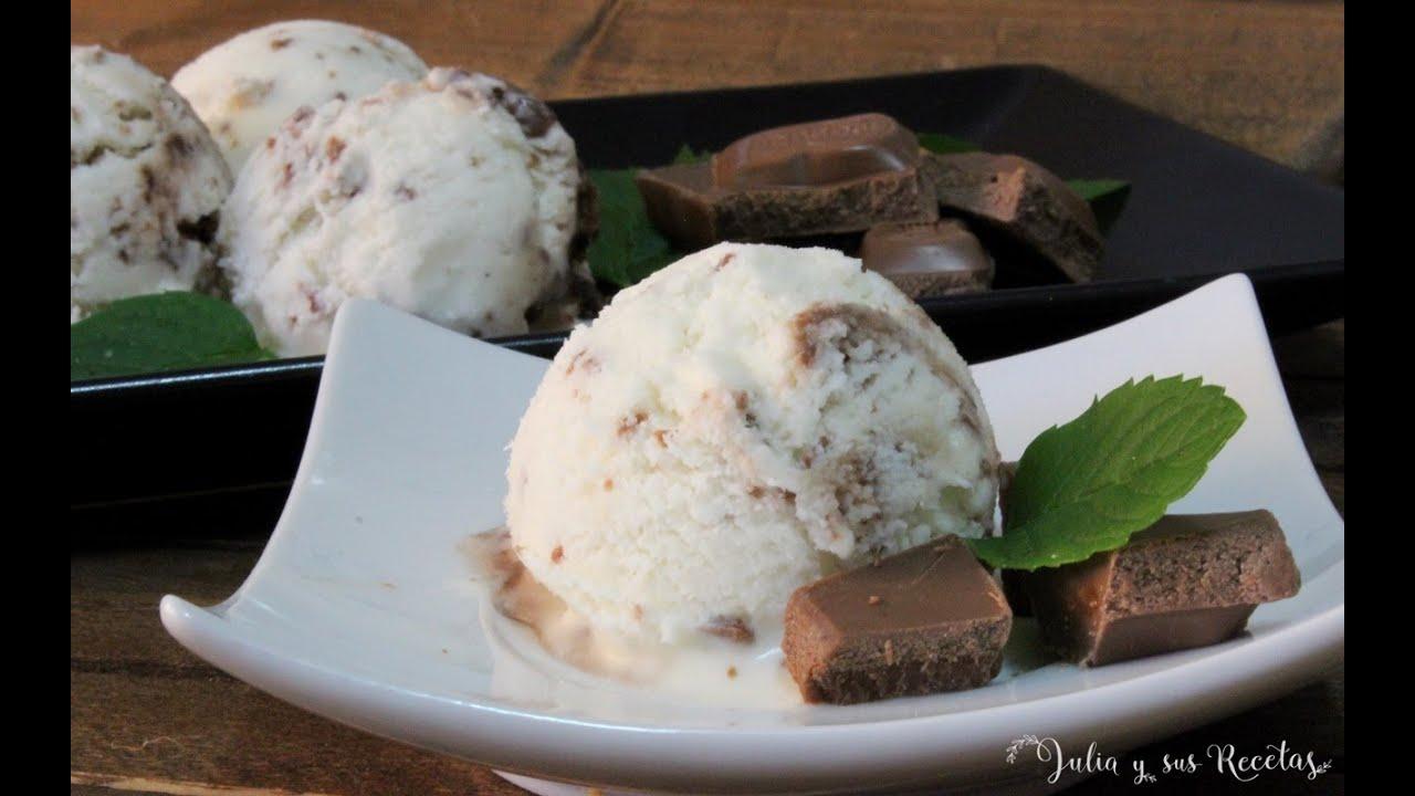 Foto de helado de stracciatella casero